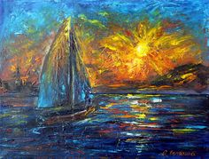 """Картина """"Приветствие Солнцу"""". Олеся Лопатина. Холст на подрамнике 30*40см, масло, мастихин. 08/2017"""