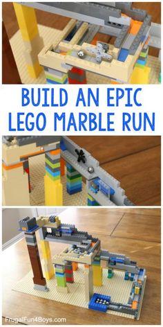 camp with kids How to build an EPIC LEGO Marble Run - Use main . - camp with kids How to build an EPIC LEGO Marble Run – Mainly use foundation stones, … build - Lego Duplo, Lego Math, Lego Craft, Lego Minecraft, Lego Club, Legos, Lego Hacks, Marble Tracks, Diy Pour Enfants