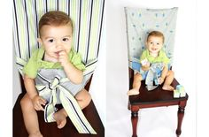 "A ""high chair"" to put in the diaper bag...I'm thinking this could be made very easily. @Hope Helms"