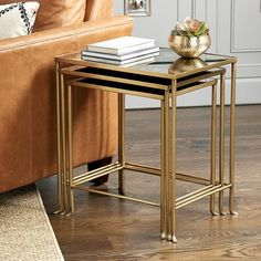 Looking for a stylish Madeline Nesting Table Set? Shop Ballard Designs for your perfect new Madeline Nesting Table Set and accessorize your home to perfection! Painted Bedroom Furniture, Metal Furniture, Furniture Design, All Modern Furniture, Marble Furniture, Minimalist Furniture, Entryway Furniture, Farmhouse Furniture, Rustic Furniture