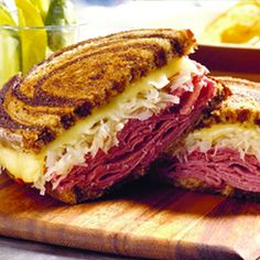 Classic Reuben Sandwich...  Saturday is St. Patties! I'm going to have to chow down on one of these bad boys sometime this weekend.