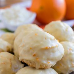 Orange Ricotta Cookies - A classic Italian cookie that is moist and cake-like with a distinctive orange flavor. So delicious! Read Recipe by Italian Christmas Cookies, Italian Cookies, Holiday Cookies, Christmas Baking, Christmas Cookie Recipes, Italian Wedding Cookies, Tea Cakes, Orange Recipes, Sweet Recipes