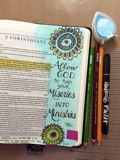 Nice bible journaling