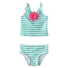 Circo® Infant Toddler Girls' Stripe Tankini Swimsuit Set