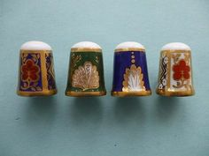 Caverswall Very RARE Thimbles x 4 from 1970s Hand Painted Excellent | eBay /  Jun 12, 2014 / GBP 65.00 / 3,813.06 RUB