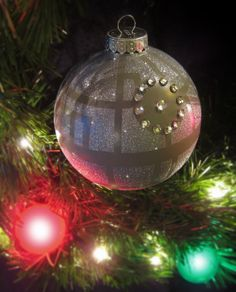 Death Star Ornament – Star Wars Hand-painted and decorated gray glass christmas ball