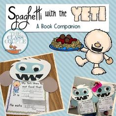 Use this unit to bring in some winter fun to your classroom using the book, Spaghetti with the Yeti by Adam and Charlotte Guillain. It is a hilarious book that will be enjoyed by all students! This pack includes patterns for the Yeti as as well as 11 writing printables and a class graph, with different variations of writing lines and boy/girl yetis for each. *The pack is supplemental material and does not replace the book.The printables include skills on: making inferences, sequence of…