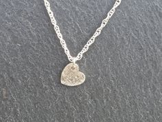 Dainty Heart Necklace/Pendant silver by MeltSilver on EtsyThis tiny heart necklace has been handmade using Silver Metal Clay, and would make a perfect gift for someone special, or a lovely treat for yourself!