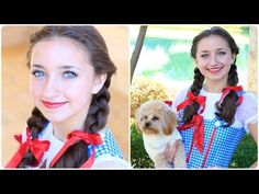 I'll get you my pretty....and your little dog too!   Dorothy braids tutorial! #cutegirlshairstyles #DIY #Halloween #wizardofoz #dorothy #hairstyles
