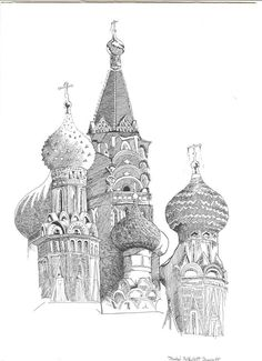 This is Russia-love! #art #ink #inkdrawing #stbasilscathedral #moscow #urbansketch