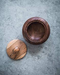 Walnut & Spalted Maple Salt Bowl