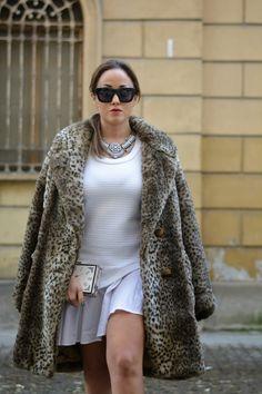 Fake fur coat by @cultureandtrend