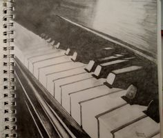 Graphite pencil drawing #piano #drawing #music