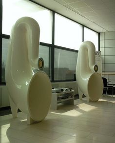 Beautiful horns. Audiophile. Speakers. Room. Music. Listening. High Fidelity.