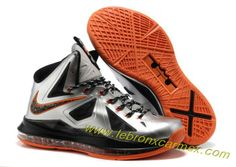 Nike Lebron X (10) Silver Orange  New