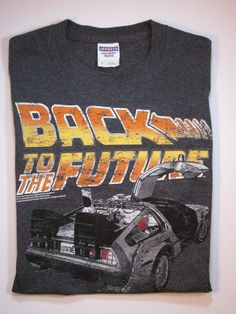 Back to the Future Delorean T-Shirt TShirt Size S Small #JERZEES #GraphicTee