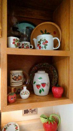 Strawberries on my shelf.
