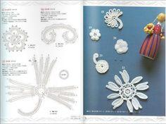 Crochet book online free pattern flowers crochet lace