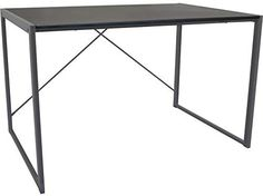 Harbour Housewares Large Computer Laptop Notebook Wooden Desk Table PC Office Workstation - Silver Office Workstations, Computer Desks, Table, Furniture, Home Decor, Decoration Home, Room Decor, Tables, Home Furnishings