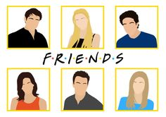 I'm going to Friendsfest this week and I'm SO EXCITED. Friends feels = this very rushed piece. Friends Episodes, Friends Moments, Friends Series, Friends Show, Friends Sketch, Drawings Of Friends, Friends Illustration, Character Illustration, Friend Canvas