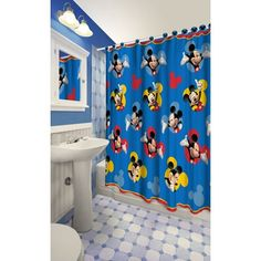This Disney Shower Curtain is a set which features Disney's Mickey Mouse. Disney Shower Curtain Features The curtain is made from polyester and vividly depicts the various Disney characters. Disney Shower Curtain, Shower Curtain Sets, Bathroom Shower Curtains, Bathroom Sets, Batman Bathroom, Mickey Mouse Bathroom, Disney Bathroom, Disney Junior Mickey Mouse, Mickey Y Minnie