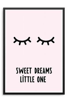 Artprint mit Spruch für schöne Kinderträume / artprint with quote for lovely…
