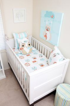 Owlies Linen Collection for Nursery from Cot Couture