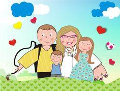 Lino e família, pedido da Rose