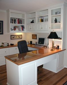 Beautiful Built In Home Office Cabinets