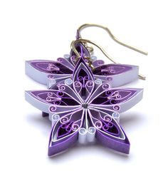 Christmas earrings Ecofriendly quilled snowflake by VBPureDesigns, $25.82