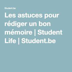 Les astuces pour rédiger un bon mémoire | Student Life | Student.be