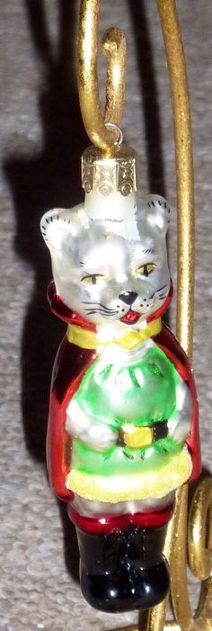 "Vintage Radko 4 1 2"" Puss in Boots Ornament 