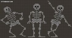 Dancing Skeletons Cross Stitch Pattern by StitchBucket on Etsy, $3.99
