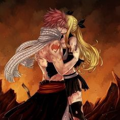 Nalu kisses Follow @animedragneel Credit ( artist ) if u repost HashTag