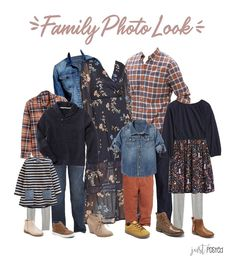 Looking for what to wear for Fall Family Pictures? Here is the perfect look featuring lots of navy, orange, gray, denim and rust colors! It's a great coordinating look for family photos! Fall Family Picture Outfits, Christmas Pictures Outfits, Family Portrait Outfits, Family Photo Colors, Fall Family Photos, Family Pics, Fall Photos, Family Posing, Navy Family Pictures