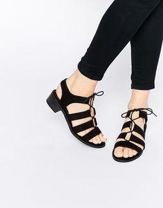 New Look Tie Up Flat Sandal