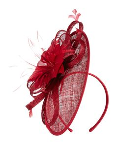 Phase Eight Zoe Disc Fascinator Red
