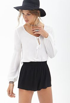 Audition 1 Look Crepe Woven Shorts | FOREVER21 - 2000060667