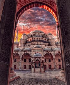 Sultan Ahmet Mosque (Blue Mosque) designed by Sedefkâr Mehmed Ağa. – All Pictures Beautiful Mosques, Beautiful Places, Wonderful Places, Sultan Ahmed Mosque, Blue Mosque Istanbul, Landscape Photography, Travel Photography, Photography Photos, Turkey Places