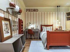 Como decorar e aproveitar cada cantinho de um quarto pequeno Kids Room, Divider, Loft, Curtains, Bedroom, Nice, Furniture, Home Decor, Design