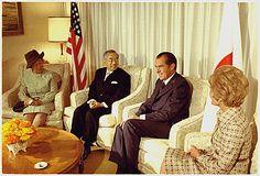 President Richard Nixon and Mrs. Nixon meeting with Emperor Hirohito and Empress Nagako of Japan, 09/26/1971
