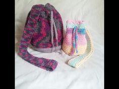 Bolsa Saco em Croche Candy Colors / Crochet Bag - YouTube