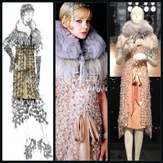 The Great Gatsby (2013) | Miuccia Prada sketched this iconic crystal gown worn by actress Carey Mulligan (Daisy Buchanan) and later displayed at Prada's Soho (NYC) store to celebratecthe opening of Baz Luhrmann's 3D film adaptation of Fitzgerald's classic.