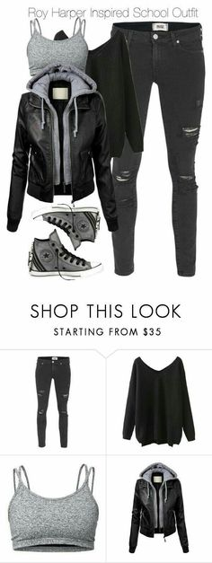 """""""Arrow - Roy Harper Inspired School Outfit"""" Featuring Paige Denim, Lija, Converse, school, Arrow and royharper Fashion Mode, Look Fashion, Teen Fashion, Autumn Fashion, Fashion Outfits, Fashion Spring, Fashion Edgy, Latest Outfits, Fashion Clothes"""