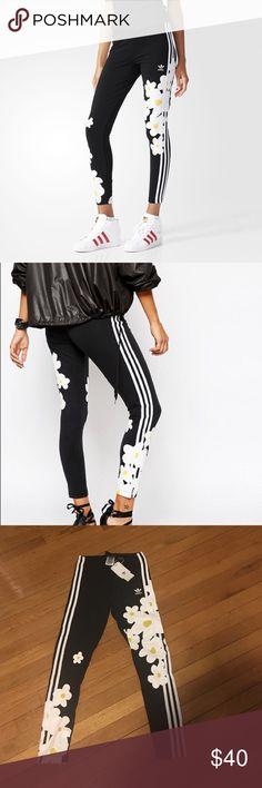 Adidas x Pharrell Williams flower leggings sz XS New with tags. Adidas Pants Leggings