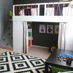 Hideaway Under Homemade Bed in Finn's DIY Domain