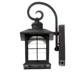 Home Decorators Collection Aged Iron Motion Sensing Outdoor LED Wall Lantern-HB7251-292 - The Home Depot
