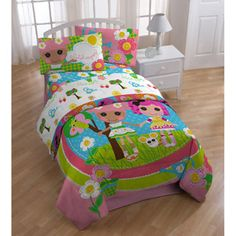 Sheet & Pillowcase Sets Lalaloopsy Sew Magical Rag Dolls Twin Bed for sale online Twin Bed Sheets, Twin Sheet Sets, Girls Bedroom, Bedroom Decor, Dream Bedroom, Bedrooms, Bedroom Ideas, Bed In A Bag, Lalaloopsy