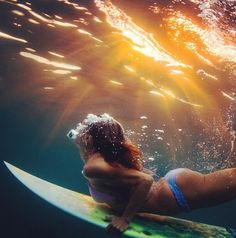 the best feeling in the world is diving under a wave and watching it roll. with a board just just by yourself it's stil amazing.