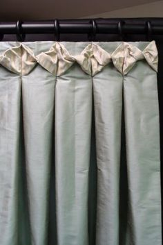 Drapery design, tailored panels with header detail Curtains And Draperies, Drapery Panels, Lounge Curtains, Pleated Curtains, Valance, Drapery Designs, Drapery Ideas, Curtain Ideas, Curtain Trim